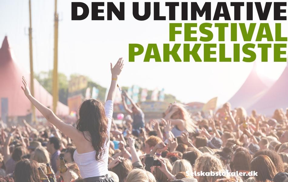 Den ultimative festival pakkeliste cover billede
