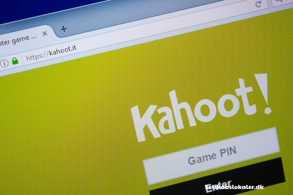 Skærm der viser Kahoot