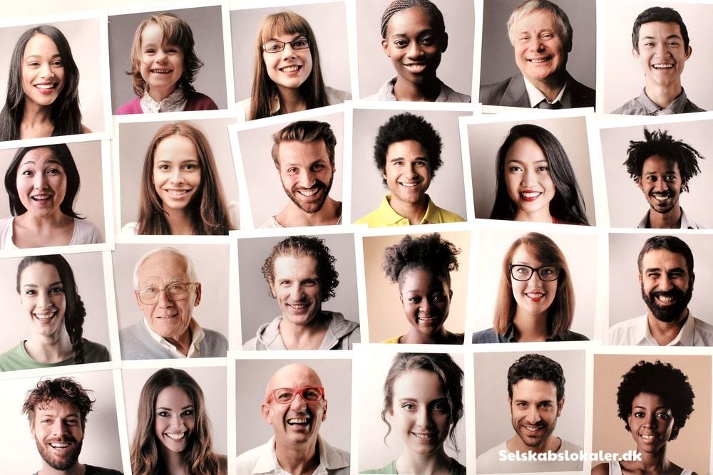 Profilbilleder af forskellige mennesker